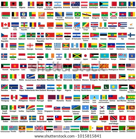 vector set of all world