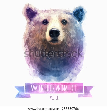 vector set of animals bear