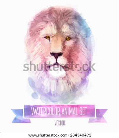 vector set of animals lion