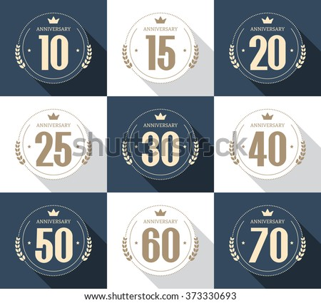 Anniversary Symbols Collection Download Free Vector Art Stock