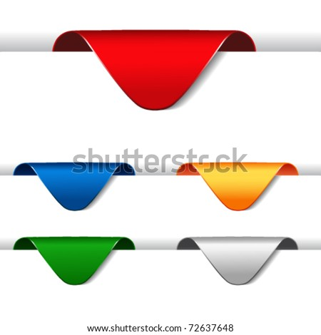 Vector set of announcement arrows - stock vector