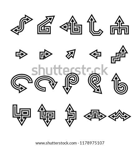 vector set of arrow icons