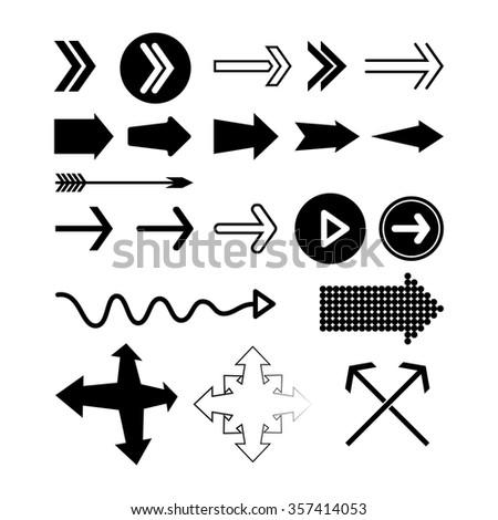 Vector set of arrows #357414053
