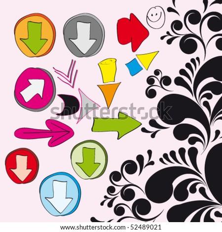 Vector Set of Arrows. eps10.