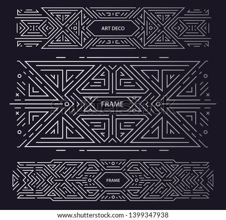 vector set of art deco frames