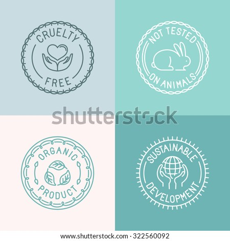 vector set of badges and