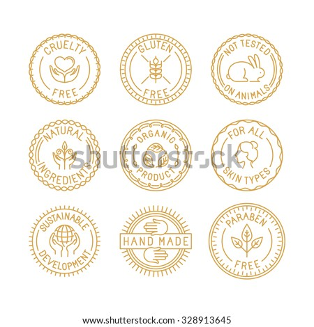 vector set of badges for