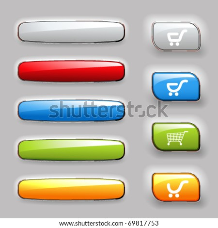 Vector set of  banners and buttons