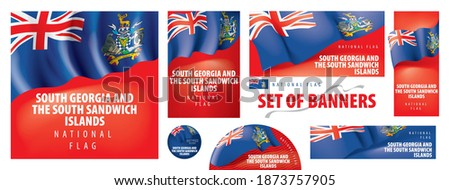 vector set of banners with the
