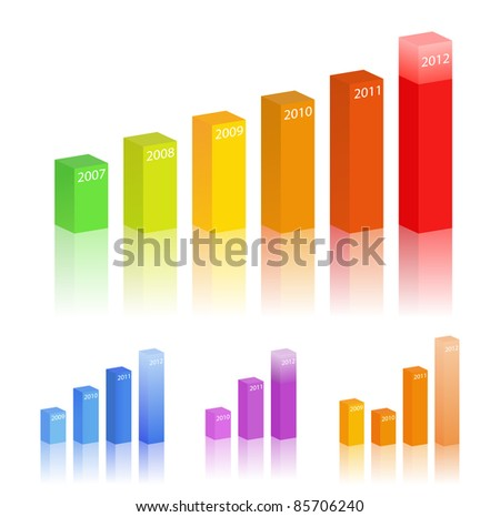Vector set of bar graphs