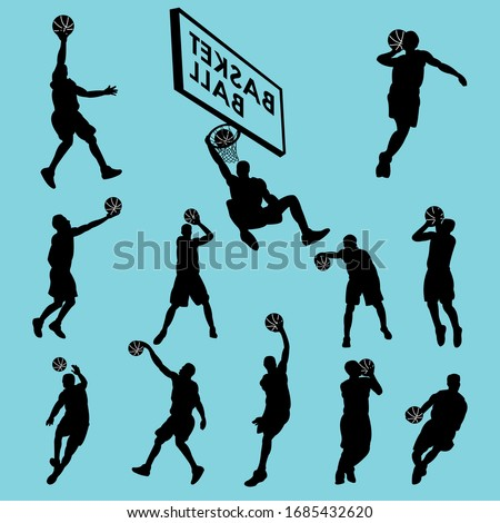 vector set of basketball