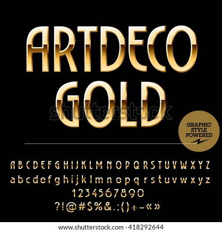 vector set of beautiful gold