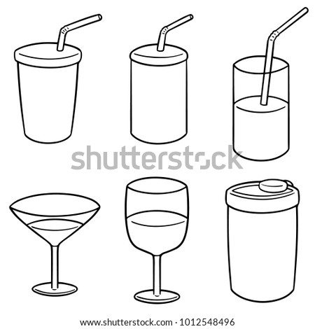 vector set of beverage cup Stock photo ©