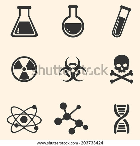 vector set of black chemistry