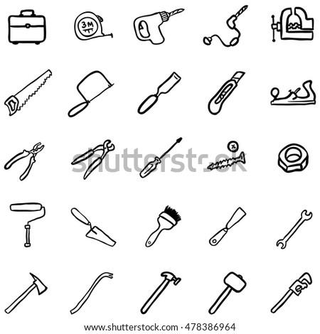 vector set of black doodlework