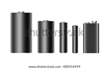 vector set of black glossy