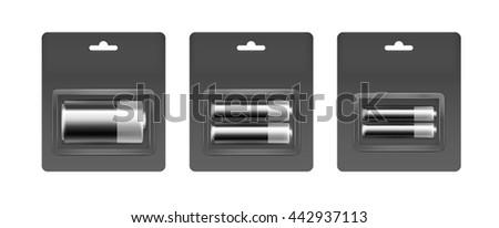 vector set of black gray silver
