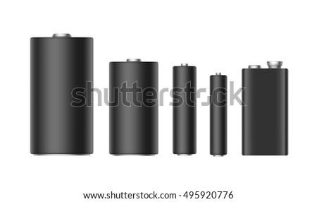 vector set of black matt