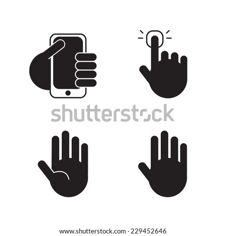 vector set of black silhouette