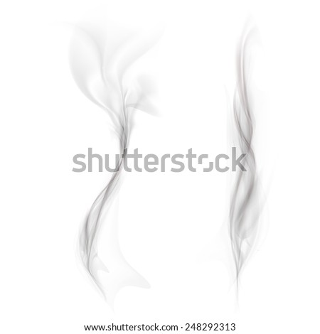 vector set of black smoke