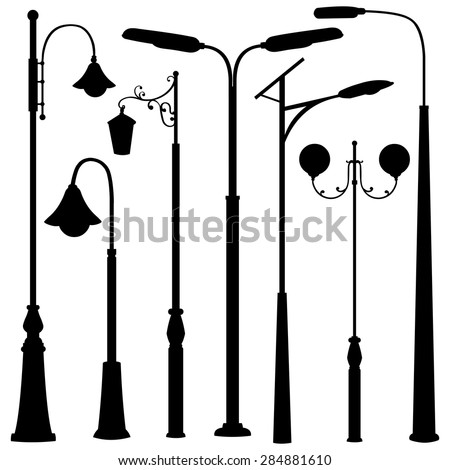 vector set of black street