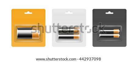 vector set of black yellow