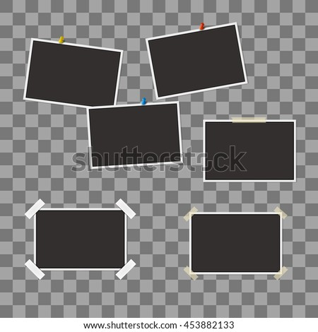 vector set of blank photo