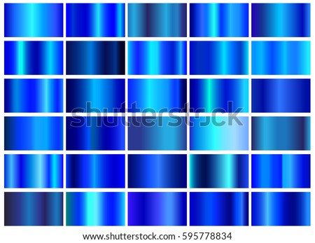 Vector set of blue gradients.Blue backgrounds collection.