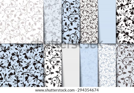 vector set of blue  white and