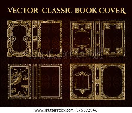 Golden Old Book Cover Vectors Download Free Vector Art Stock