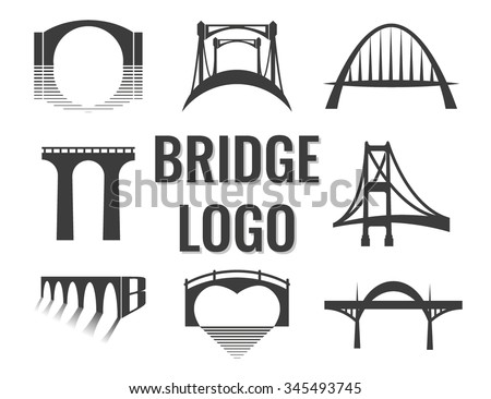 vector set of bridge connection
