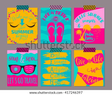 vector set of bright color