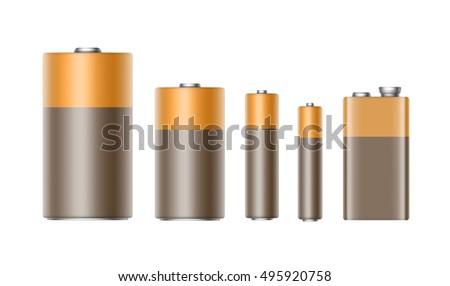 vector set of brown yellow
