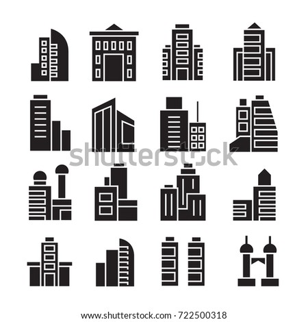 vector set of building icons