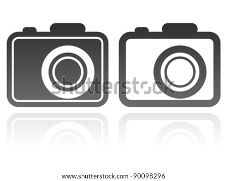 vector set of camera icons