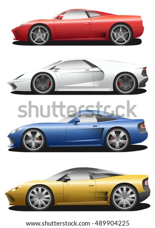 vector set of cars sport