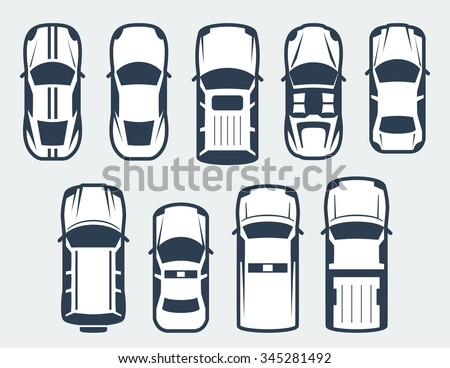 vector set of cars   top view