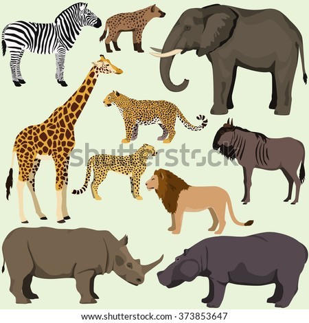 vector set of cartoon african
