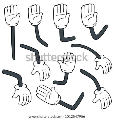 vector set of cartoon arm #1012547956
