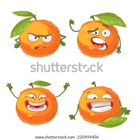 vector set of cartoon character
