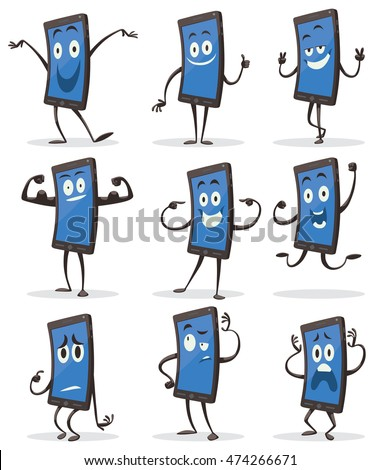 vector set of cartoon images of