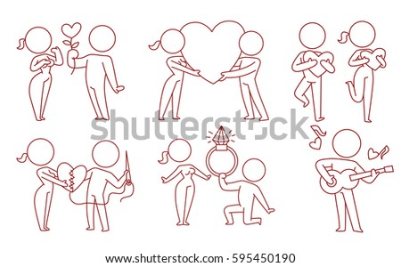 vector set of cartoon images of