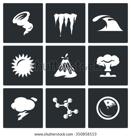 vector set of cataclysm icons