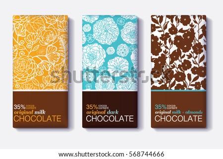 vector set of chocolate bar
