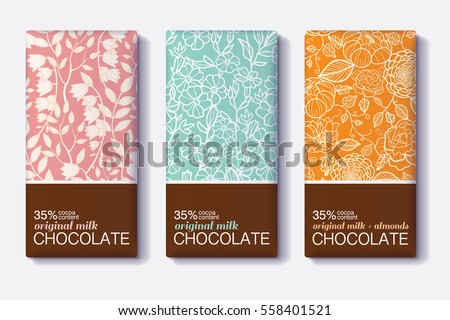 vector set of chocolate bar