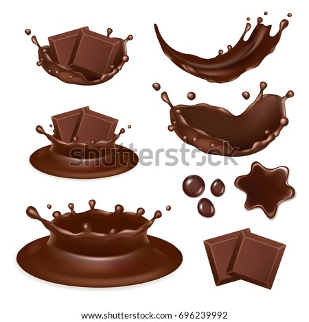 vector set of chocolate form