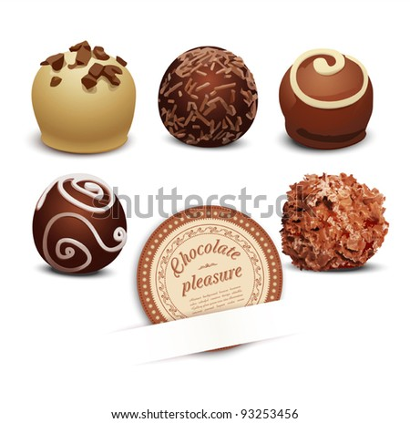 vector set of chocolate on a