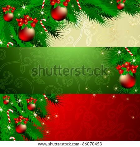 Vector set of Christmas banners