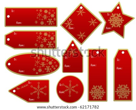 vector set of christmas gift tags