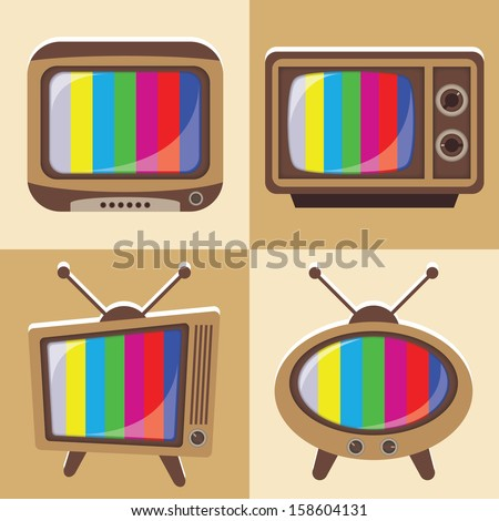 Vector set of classic television 1